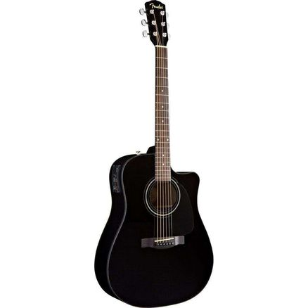 Электроакустическая гитара FENDER CD-60CE DREADNOUGHT BLACK W/FISHMAN® MINIQ PREAMP