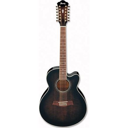 Электроакустическая гитара Ibanez AEL2012E Transparent Black Sunburst